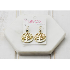 Gold Tree Earring