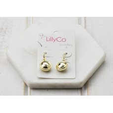 Gold Shiny Disc Earring