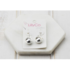 Silver Shiny Disc Earring