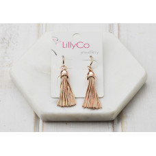 Rose Gold Tassel Earring