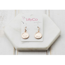 Rose Matt Disc Earring