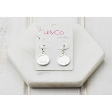 Silver Matt Disc Earring