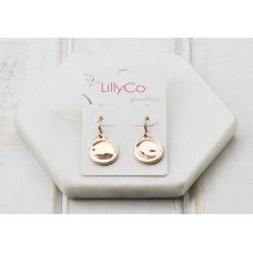 Rose Gold Shiny Disc Earring