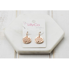 Rose Gold Tree Earring
