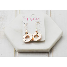 Rose Gold Small Circle Earring