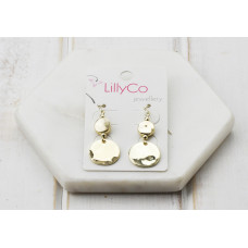Gold 2 Disc Earring