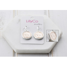 Rose Gold & Silver Coin Earring