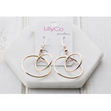 Rose 2 Ring Earring