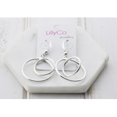 Silver 2 Ring Earring