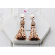 Rose Pink Tassel Earring
