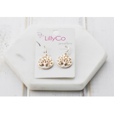 Rose Gold Tree Earrings