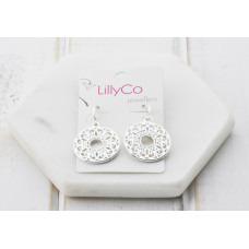 Silver Lacey Earring