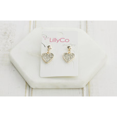 Rose Gold Heart Crystal Earring