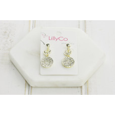 Gold Crystal Drop Earring