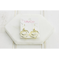 Gold Double Ring Earring