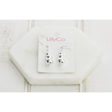 Silver 3 Ball Earring