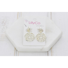 Gold Cut Out Pendant  Earring