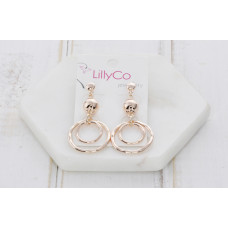 Rose Gold 2 Ring Earring