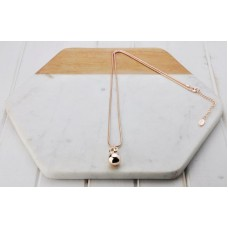 Rose Gold Snake Chain with Ball Necklace