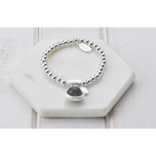 Matt Silver with Grey Stone Bracelet
