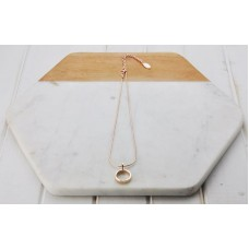 Rose Gold Short Ring Necklace