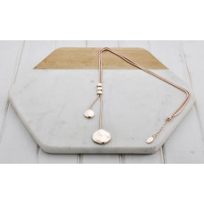 Rose Gold 2 Length Disc Necklace