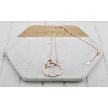 Rose Gold 3 Ring Necklace