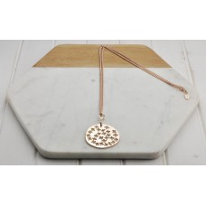 Rose Gold Chain & Cut Out Pendant Necklace
