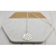 Silver Chain & Cut Out Pendant Necklace