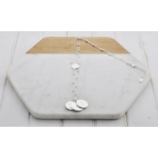 ONLY 1 LEFT - Silver 3  Disc Ball Chain Necklace