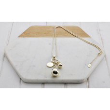Gold Pearl & Charm Necklace