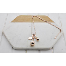 Rose Gold  Pearl & Charm Necklace