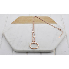 Rose & Pink Ring Necklace