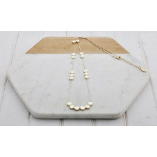Gold Matt Disc Necklace