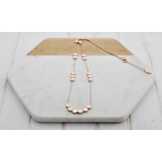 Rose Matt Disc Necklace