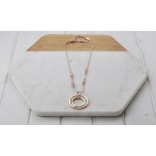 Short Rose Gold Double Chain Necklace