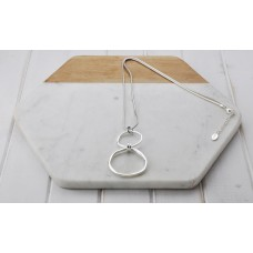 Silver 2 Ring Necklace