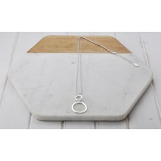 Fine Silver Ball Chain with 2 Rings Necklace