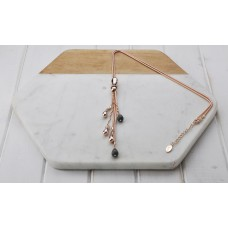 Rose Gold Tear Drop Necklace