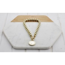 Short Gold & Coin Necklace
