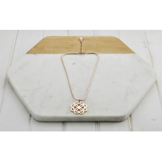Short Rose Gold Scroll Necklace