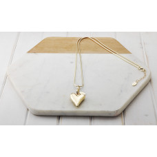 Gold Snake Chain & Heart Necklace
