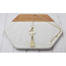 Gold Ring Tassel Necklace