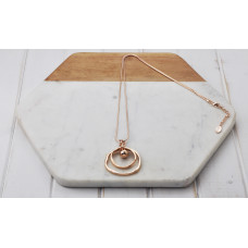 Rose Gold Double Ring Necklace