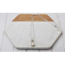 Mixed 2 Layer Battered Disc Necklace