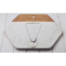 Silver Cut out Disc Necklace