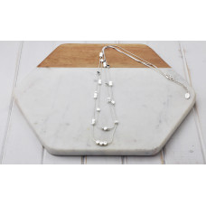 Silver 2 Length Disc Necklace
