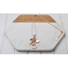 Rose Gold Ring Tassel Necklace