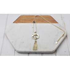 Gold Ring/Tassel Necklace
