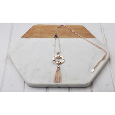 Rose Gold Ring/Tassel Necklace